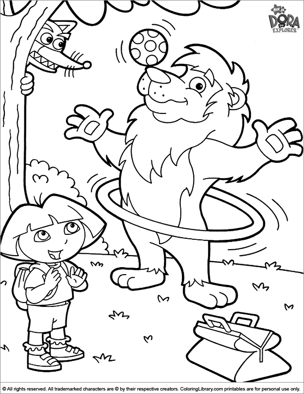 Cool Dora the Explorer coloring page