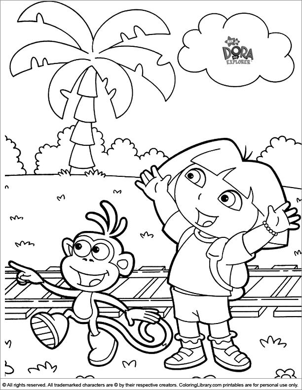 Dora the Explorer coloring for kids