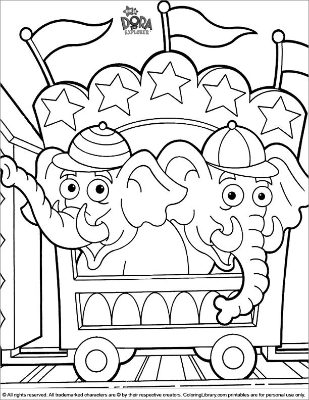 Dora the Explorer coloring book printable