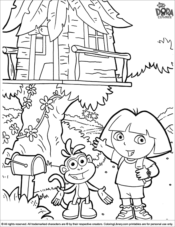 Dora the Explorer coloring image