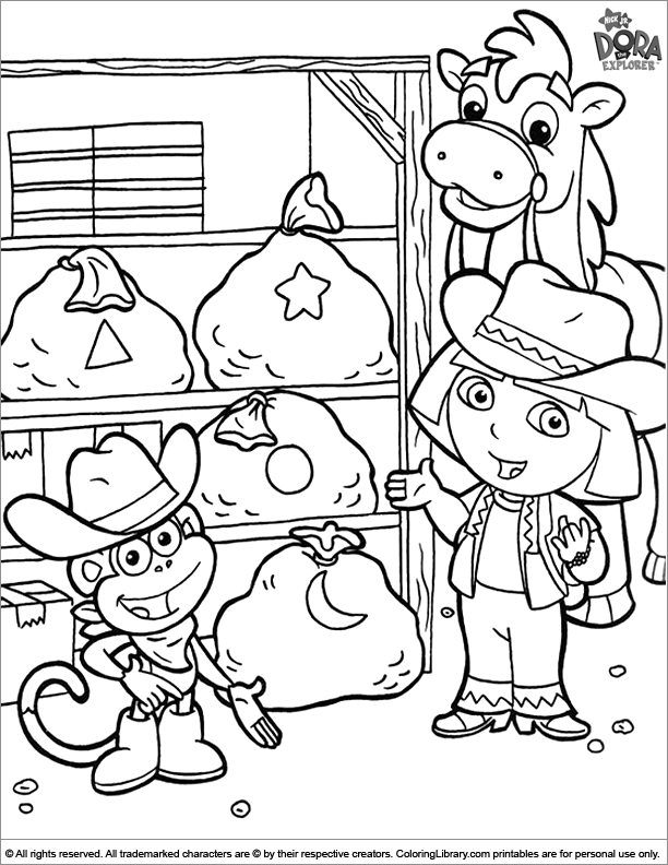 Dora Coloring Pages - GetColoringPages.com | 792x612