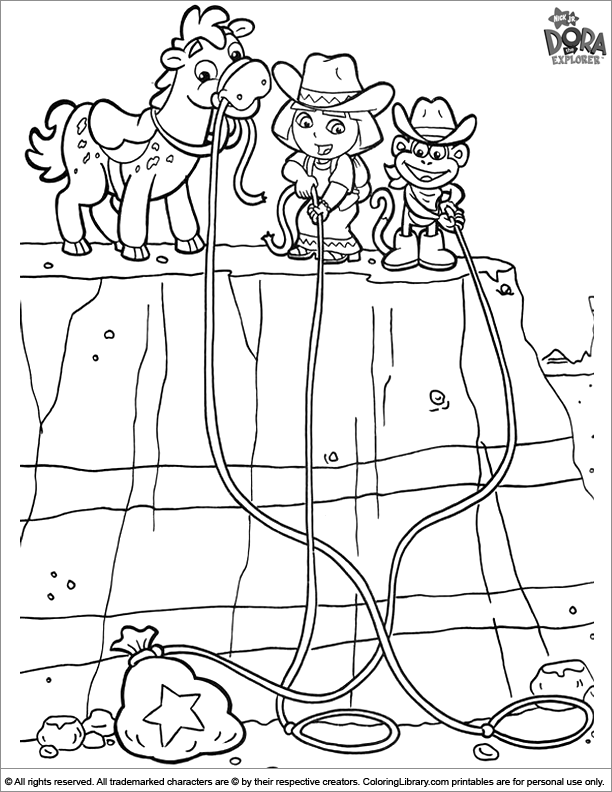 Dora the Explorer coloring page to print