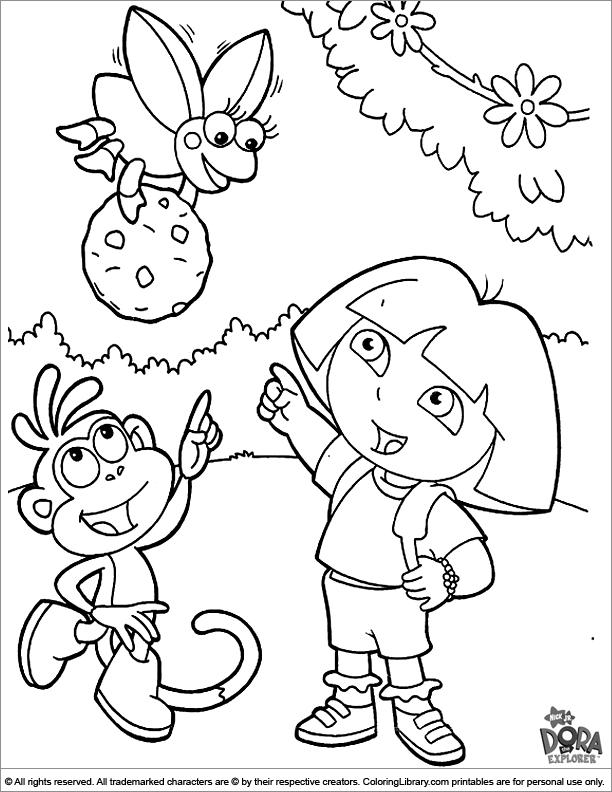 - Dora The Explorer Colouring Page - Coloring Library