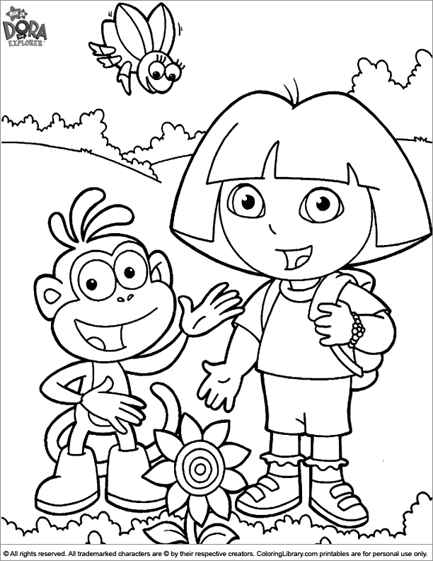 Dora The Explorer Coloring Picture The Explorer Coloring Page