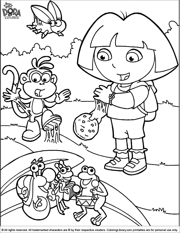 Dora the Explorer free printable coloring page