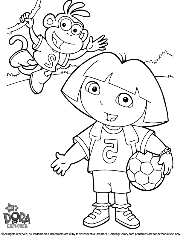 dora face coloring pages - photo#19