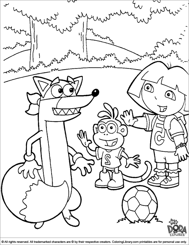 Dora the Explorer free coloring