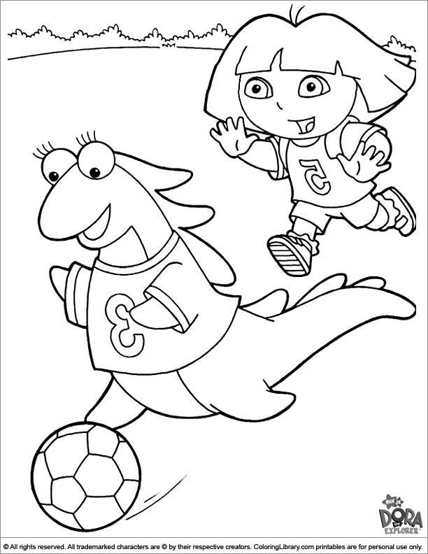 Dora the Explorer free coloring picture