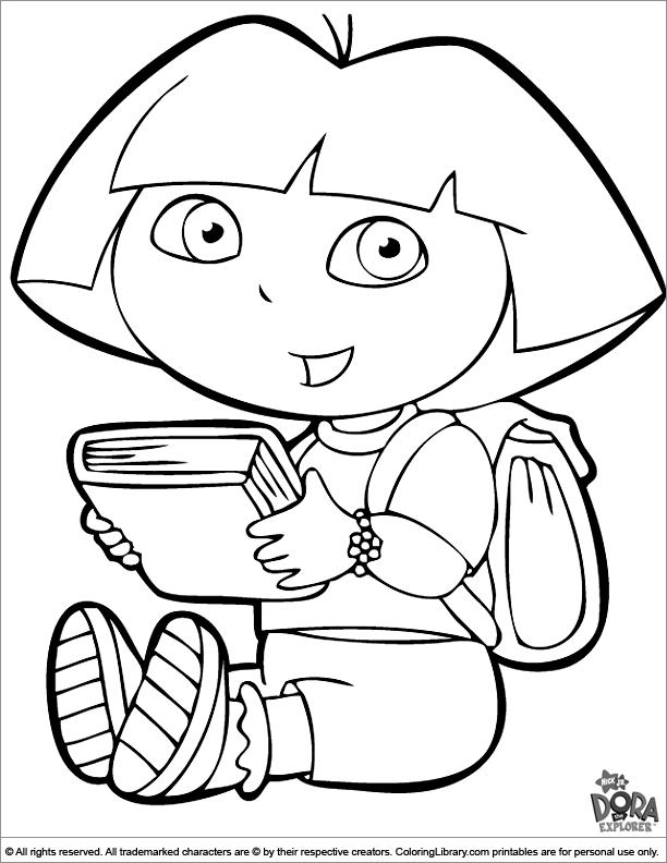 Dora the Explorer coloring picture