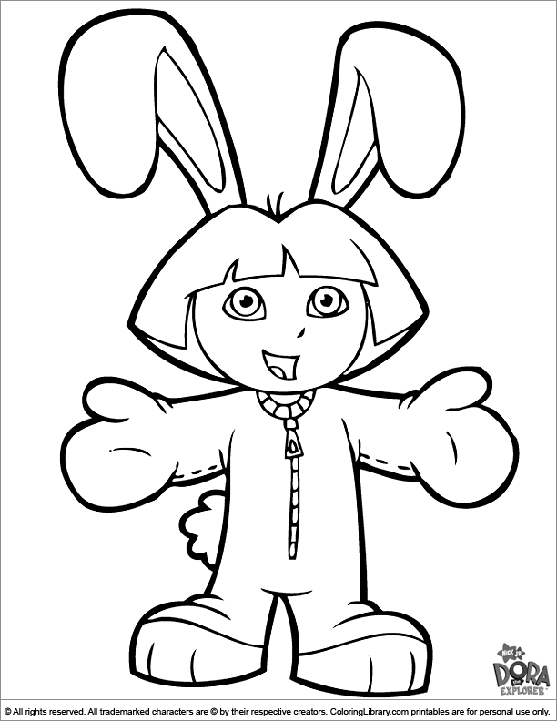 - Dora The Explorer Coloring Page That You Can Print - Coloring Library