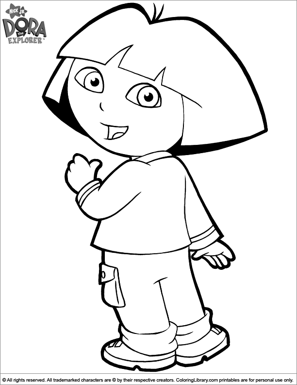 dora face coloring pages - photo#41
