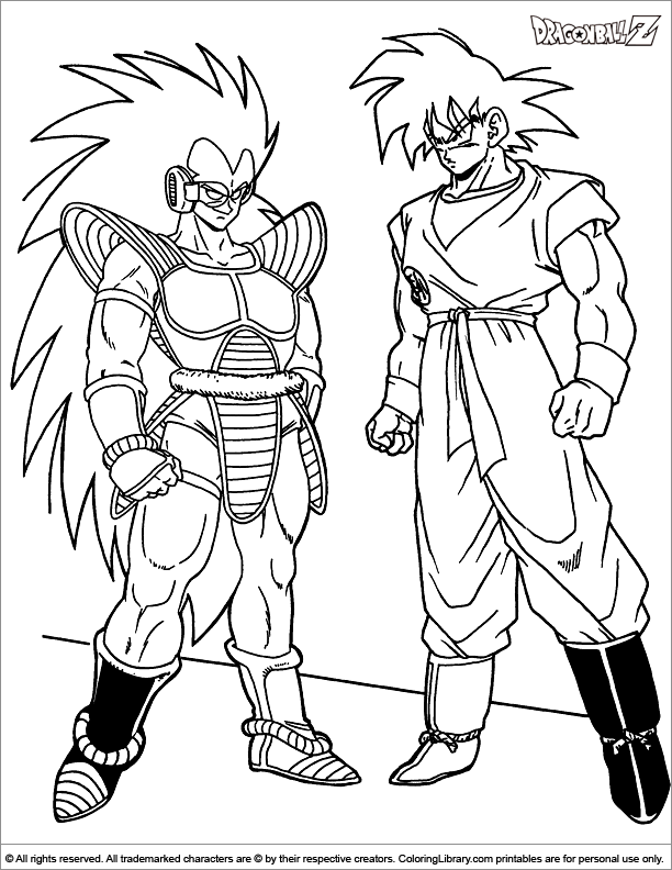 Dragon Ball Z Coloring Page That You Can Print Coloring Library