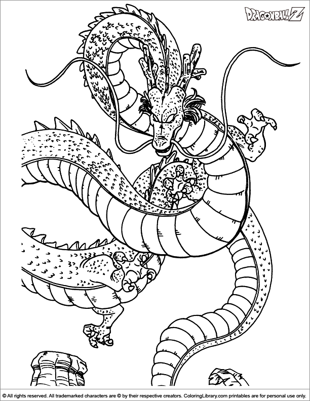 Dragon ball z coloring picture for Dragon ball z cell coloring pages