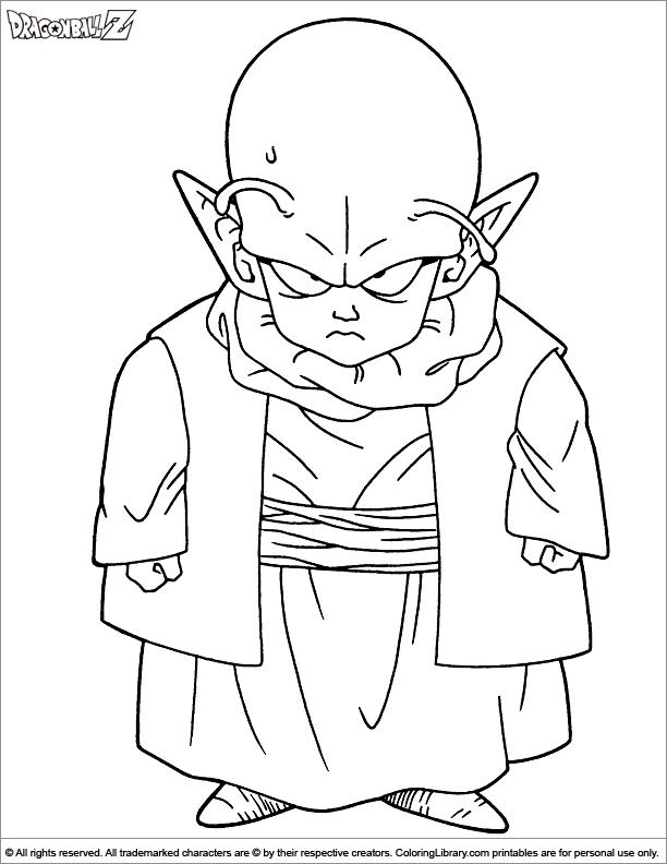 Dragon Ball Z fun coloring picture