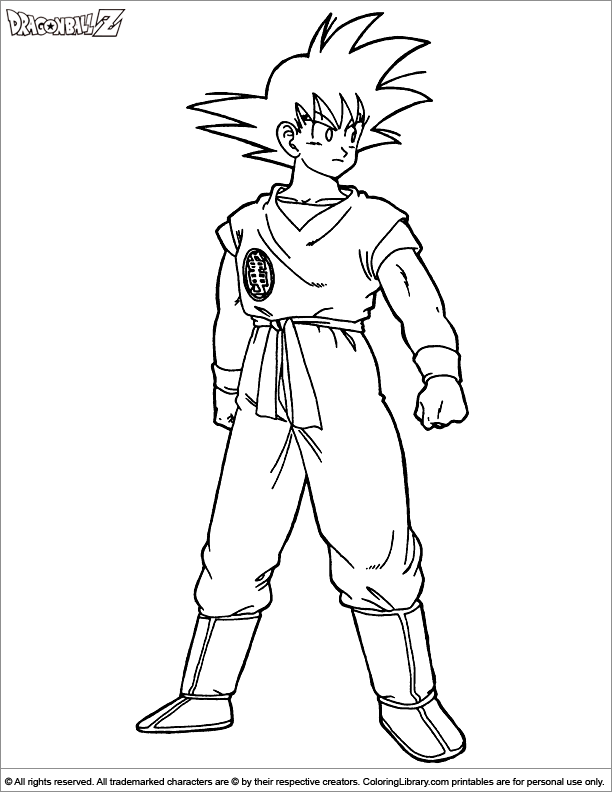 48 Coloring Pages Online Dragon Ball Z