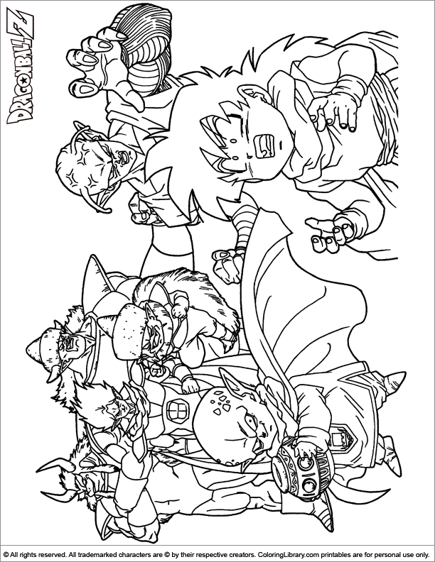 Dragon Ball Z Colouring Book Coloring Library