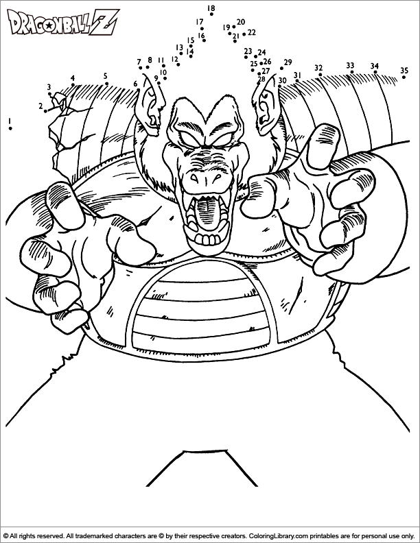 Dragon Ball Z printable coloring page