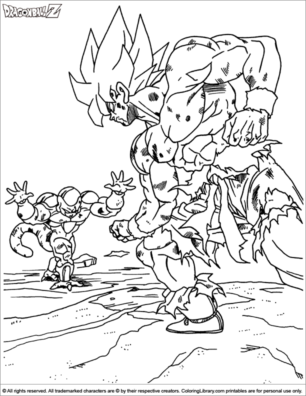 Coloring book dragon ball z coloring page for Dbz coloring pages online