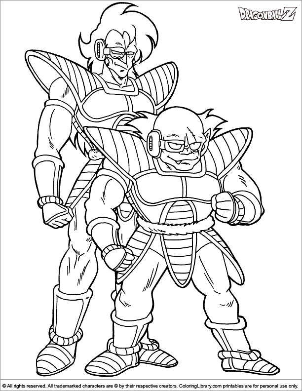 Dragon Ball Z coloring page to print