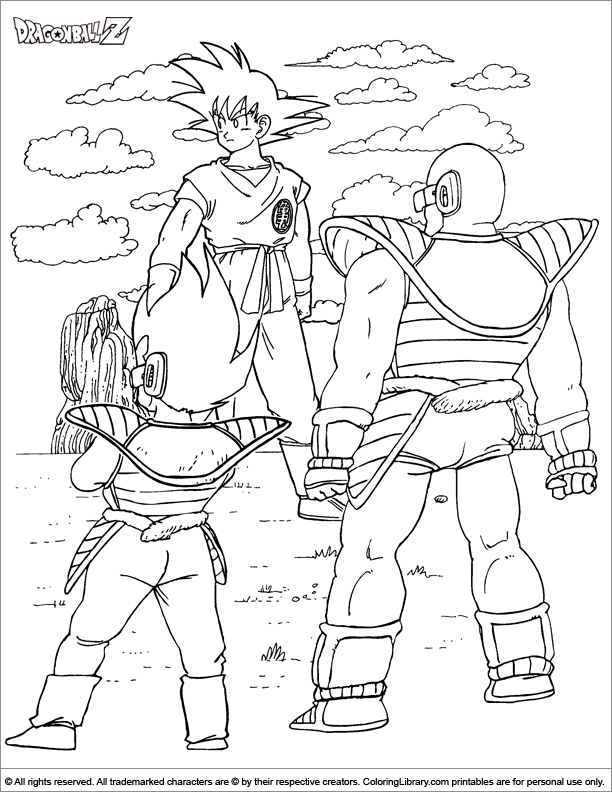 Dragon Ball Z coloring book page