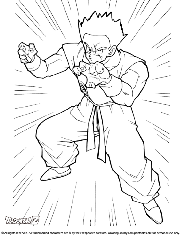 Printable Dragon Ball Z coloring page