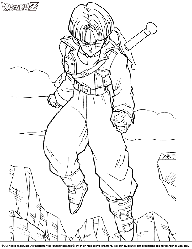 Dragon Ball Z coloring for children