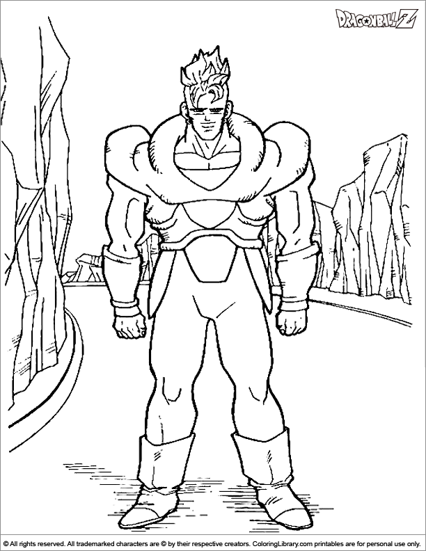 Fun Dragon Ball Z coloring page