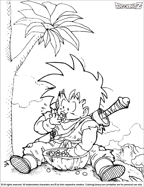Dragon Ball Z for coloring