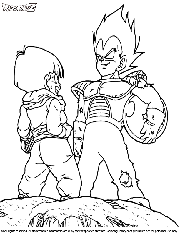 dragon ball z coloring page back to dragon ball z coloring