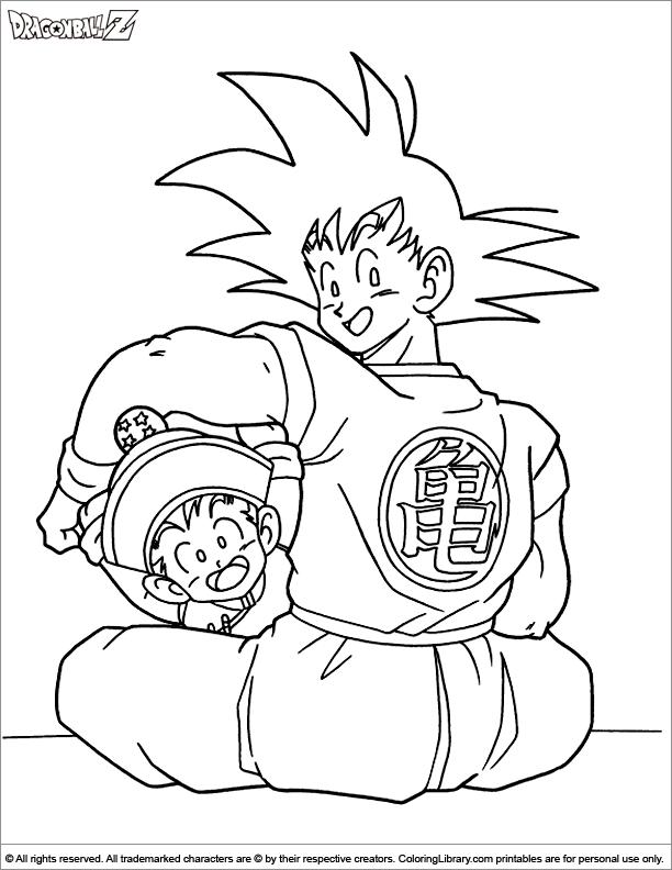 Dragon Ball Z colouring sheet