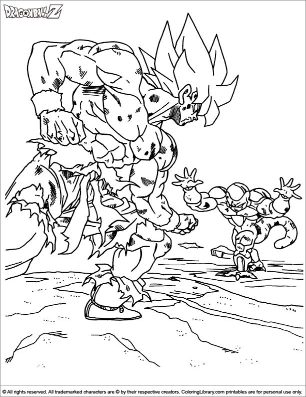 Dragon Ball Z coloring printable