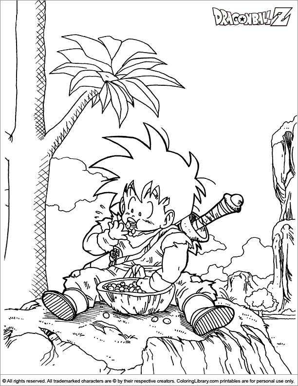Dragon Ball Z coloring page online