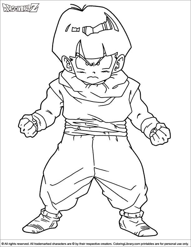 Dragon Ball Z coloring printout