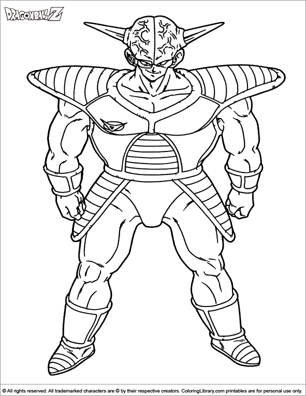 Dragon Ball Z coloring book picture