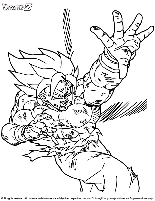 Black Goku , Trunks and Zamasu - Dragon Ball Z Kids Coloring Pages | 792x612