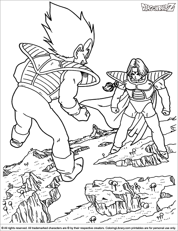Dragon Ball Z Coloring Pages - Coloring Library
