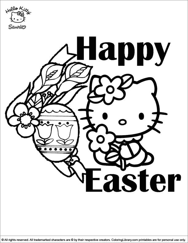 Easter Cartoon free coloring sheet