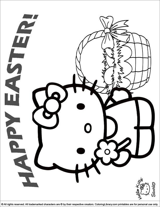 Easter Cartoon coloring page online