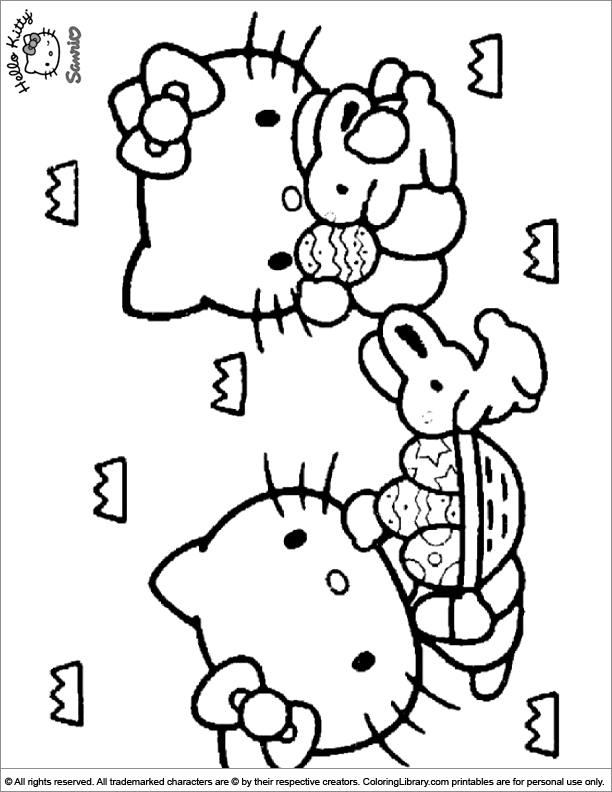 Easter Cartoon coloring image