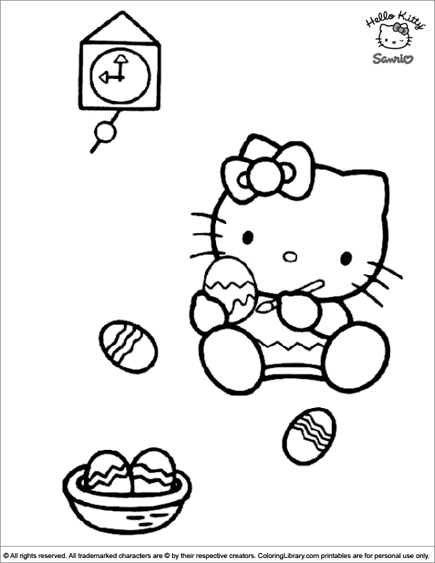 Easter Cartoon free printable coloring page