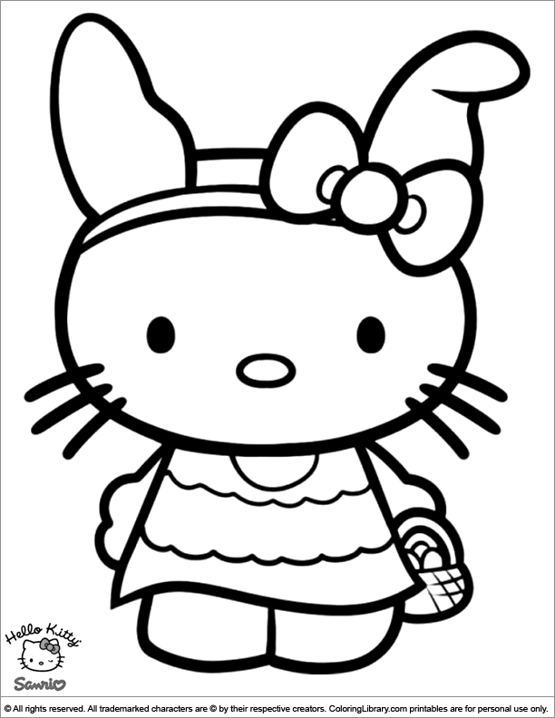 Easter Cartoon coloring page to print