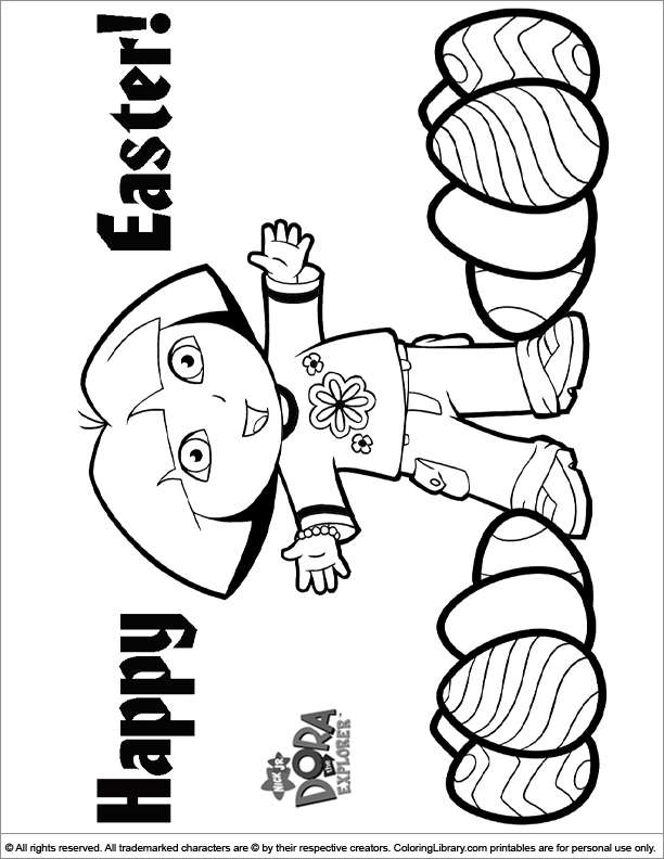 Easter Cartoon coloring printout