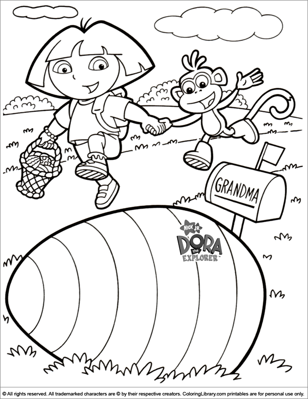 Easter Cartoon coloring page for kids to print