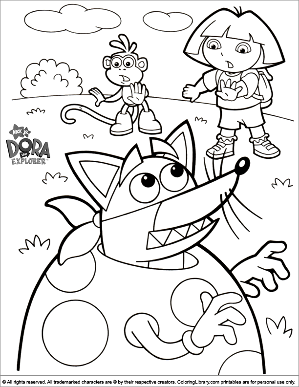 Easter Cartoon online coloring page