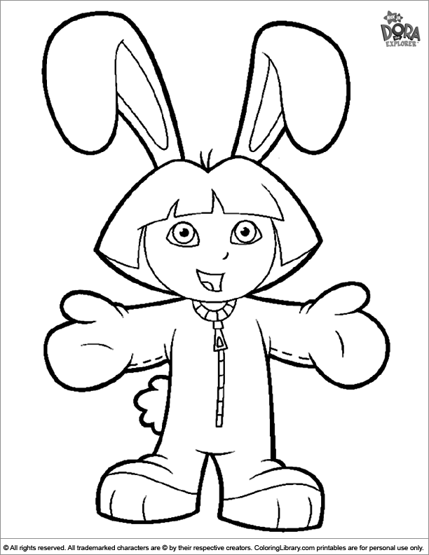 Easter Cartoon coloring picture to print