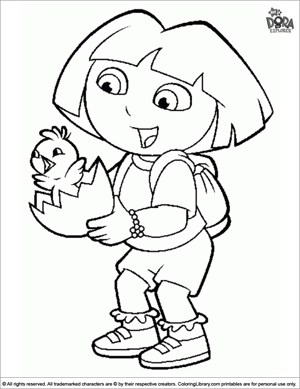 Easter Cartoon coloring picture