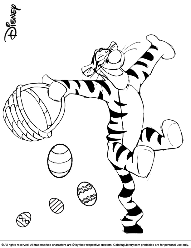 Easter Coloring Pages Disney Characters : Easter disney coloring picture