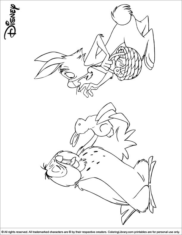 Easter Disney coloring sheet for kids