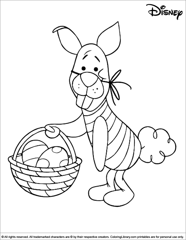 Easter Disney fun coloring page