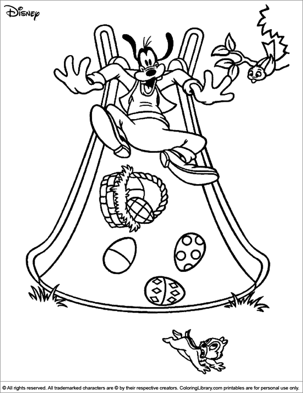 Easter Disney free coloring sheet